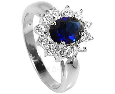 Brilio Silver sidabrinis žiedas su mėlynu kristalu 5121615S (Dydis: 58 mm) Paveikslėlis 1 iš 1 310820023458