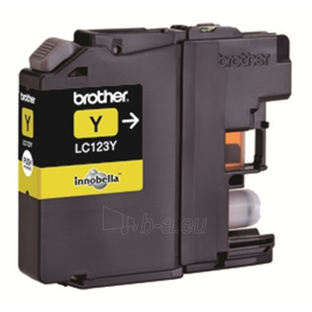 Brother LC123Y, Yellow Ink Cartridge 600 pages Paveikslėlis 1 iš 1 250256006311