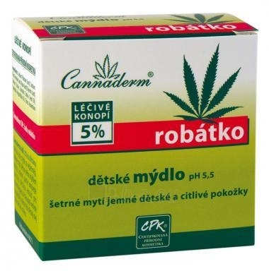 Cannaderm Robátko Kid Soap pH5,5 Cosmetic 100g Paveikslėlis 1 iš 1 30024900091