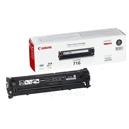 Canon 716BK Black Toner Cartridge (for LBP5050/MF8050/MF8030), 2300 p. @ A4 5% Paveikslėlis 1 iš 1 250256003303