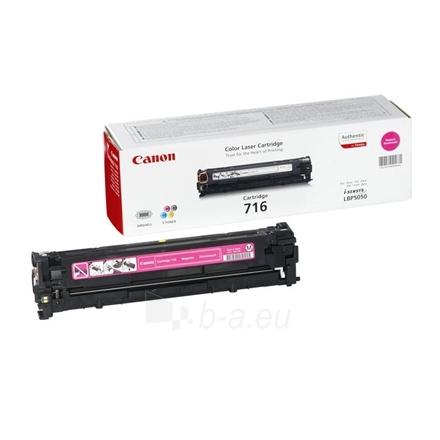 Canon 716M Magenta Toner Cartridge (for LBP5050/MF8050/MF8030), 1500 p. @ A4 5% Paveikslėlis 1 iš 1 250256003305