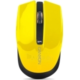 CANYON Mouse CNS-CMSW5 (Wireless, Optical 800/1280 dpi, 4 btn, USB, power saving technology), Yellow Paveikslėlis 1 iš 1 250255030843