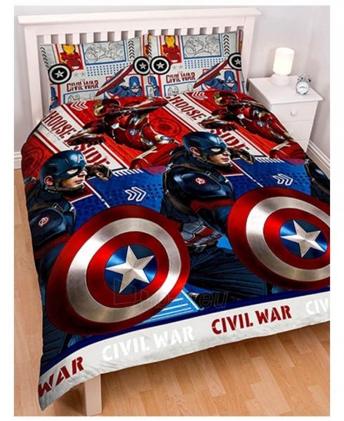 Captain America Civil War dvipusis dvigulės patalynės komplektas Paveikslėlis 1 iš 3 310820014659
