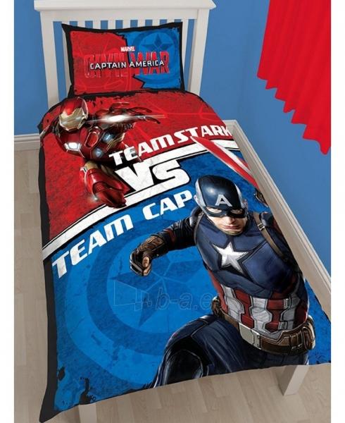 Captain America Civil War dvipusis patalynės komplektas Paveikslėlis 1 iš 2 310820014658
