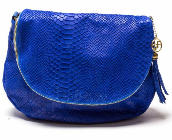 Carla Ferreri Elegantní kožená crossbody kabelka 815G Bluette Paveikslėlis 1 iš 1 310820003748