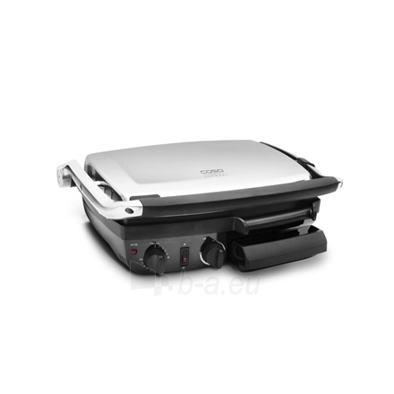 Caso BG2000 Contact grill, Non-stick grill/griddle plate, Timer, 2000W, Stainless steel/Black Paveikslėlis 1 iš 3 250123100165