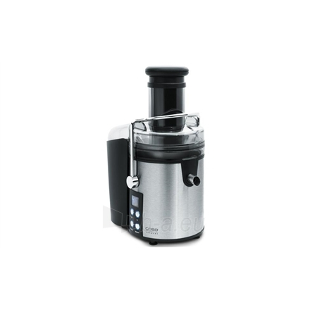 Caso PJ 800 Juicer,  800W, 4 speed, Large feeding tube 75mm, Extra large pulp container 2,0L, Pulse function, LCD monitor, Stainless steel housing Paveikslėlis 1 iš 1 250120300240