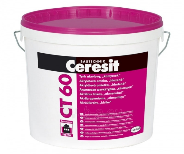 Acrylic plaster, structure like stone Ceresit CT60, 25 kg, 2,0 mm, Paveikslėlis 1 iš 1 236760100373