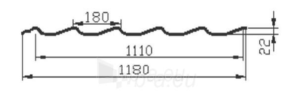 Čerpinio profilio skarda 22B plytų imitacija Paveikslėlis 3 iš 3 310820038373
