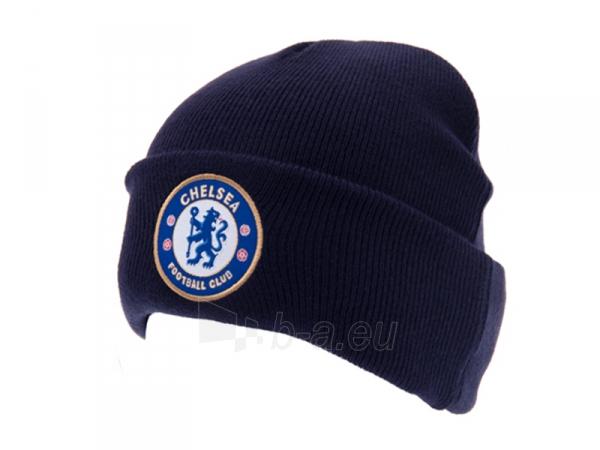 Chelsea F.C. atlenkta žieminė kepurė (Tamsiai mėlyna) Paveikslėlis 1 iš 3 251009000311