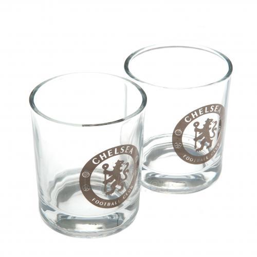 Chelsea F.C. dviejų viskio stiklinių rinkinys Paveikslėlis 1 iš 3 251009001402
