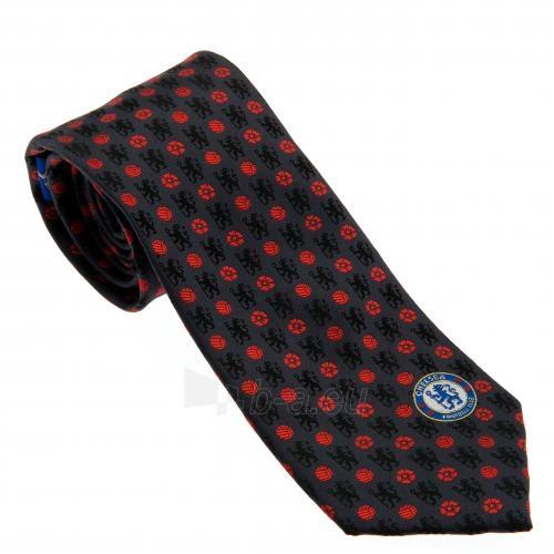 Chelsea F.C. kaklaraištis (Juodas su raudona) Paveikslėlis 1 iš 4 251009000333