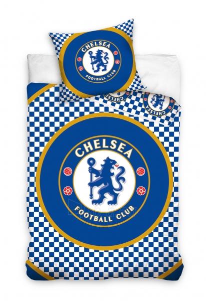 Chelsea F.C. patalynės komplektas (Smulkiai languotas) Paveikslėlis 1 iš 2 310820018435