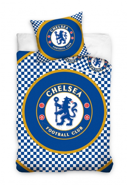 Chelsea F.C. patalynės komplektas (Smulkiai languotas) Paveikslėlis 2 iš 2 310820018435