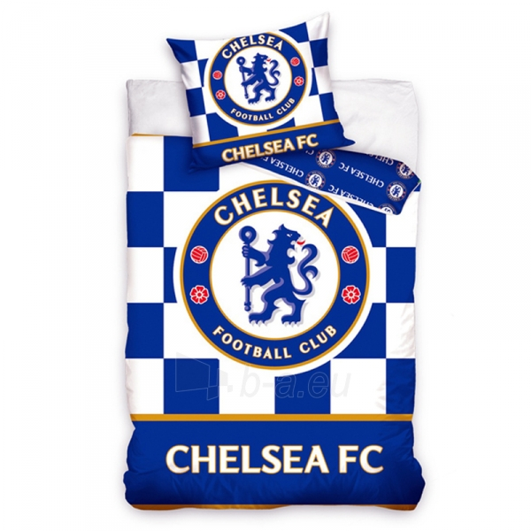 Chelsea F.C. patalynės komplektas 160x200 (Languotas) Paveikslėlis 1 iš 1 310820018859