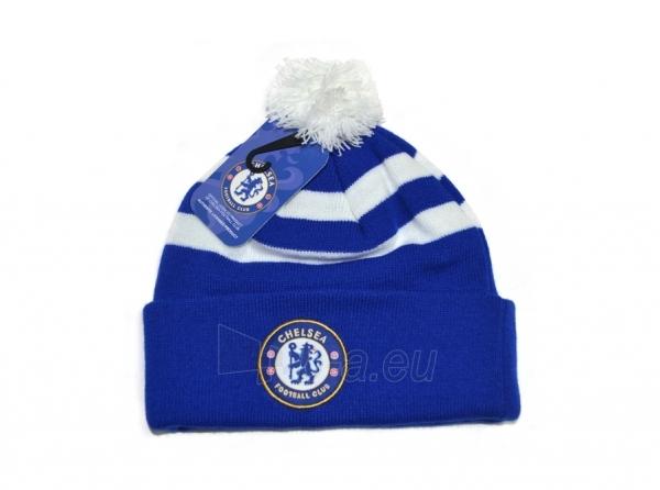 Chelsea F.C. žieminė kepurė su bumbulu (Dryžuota) Paveikslėlis 1 iš 2 310820016454