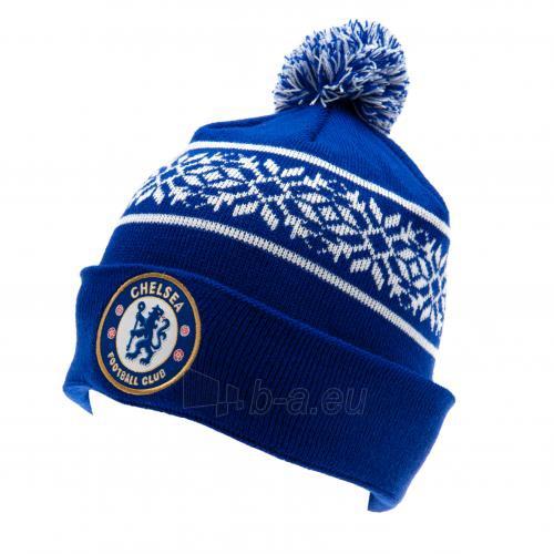 Chelsea F.C. žieminė kepurė su bumbulu (Mėlyna) Paveikslėlis 1 iš 3 251009001465