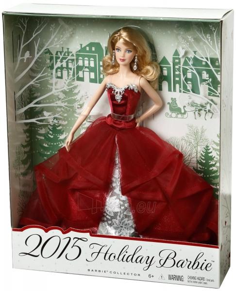 CHR76 Кукла Барби коллекционная 2015 Holiday Barbie Doll MATTEL Paveikslėlis 1 iš 6 250710901512