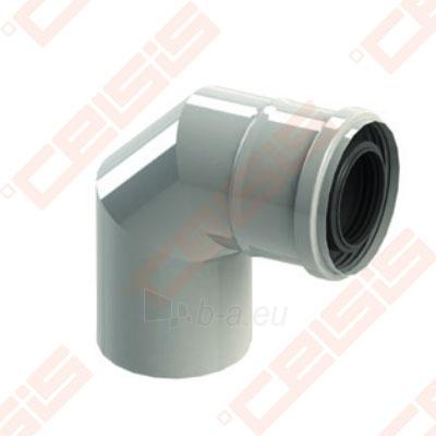 Cinkuoto plieno ir polipropileno 90° alkūnė JEREMIAS TW-PL64 Dn80/125 Paveikslėlis 1 iš 1 310820071310