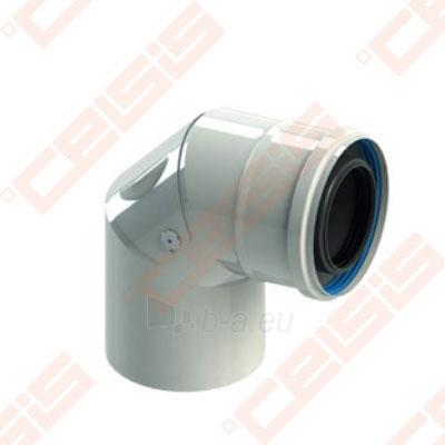 Cinkuoto plieno ir polipropileno 90° alkūnė su revizija JEREMIAS TW-PL64 Dn80/125 Paveikslėlis 1 iš 1 310820071311