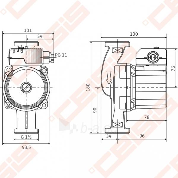 Cirkuliacinis siurblys geriamam vandeniui Wilo-Star-Z 25/2 EM; 1~230V Paveikslėlis 2 iš 4 270831000312