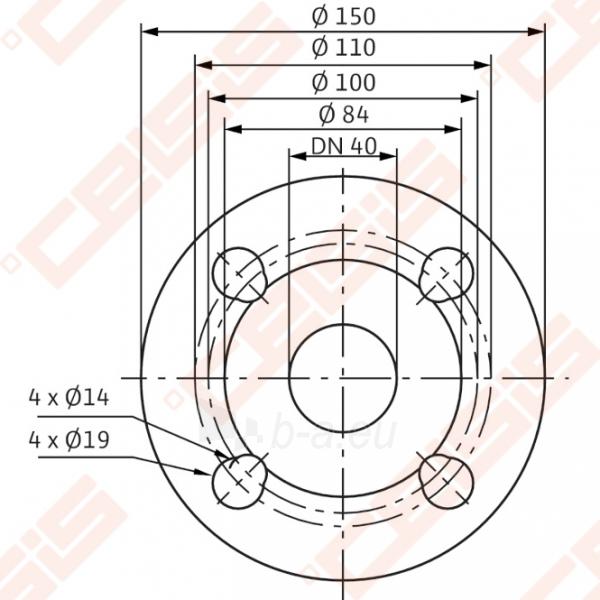 Cirkuliacinis siurblys negeriamam vandeniui Wilo-Stratos 40/1-12; 1~230V Paveikslėlis 4 iš 6 270831000368