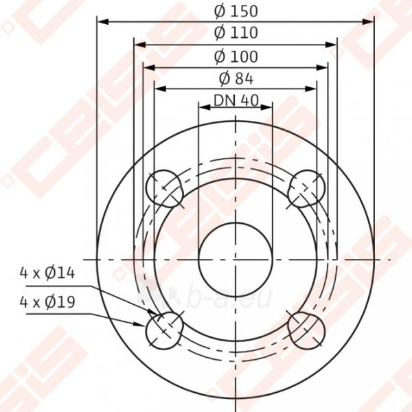 Cirkuliacinis siurblys negeriamam vandeniui Wilo-Stratos 40/1-8; 1~230V Paveikslėlis 4 iš 6 270831000369