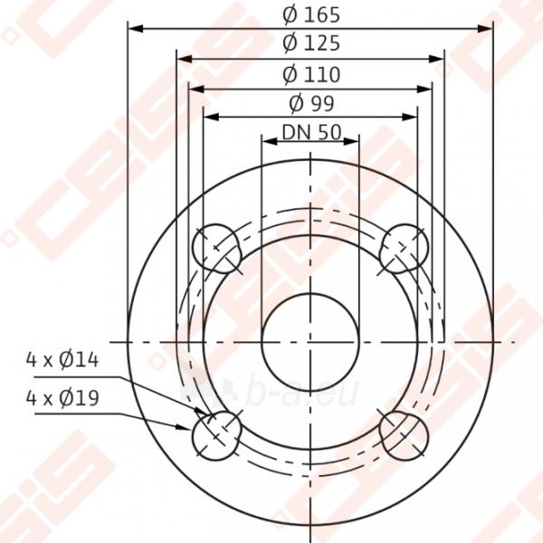 Cirkuliacinis siurblys negeriamam vandeniui Wilo-Stratos 50/1-12; 1~230V Paveikslėlis 4 iš 6 270831000370