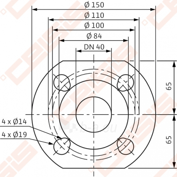 Cirkuliacinis siurblys negeriamam vandeniui Wilo-Yonos MAXO 40/0,5-8; 1~230V Paveikslėlis 4 iš 5 270831000394