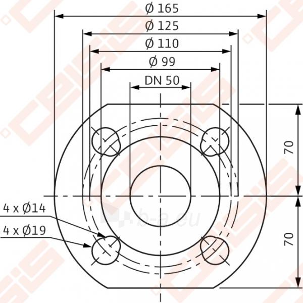 Cirkuliacinis siurblys negeriamam vandeniui Wilo-Yonos MAXO 50/0,5-12; 1~230V Paveikslėlis 4 iš 5 270831000395