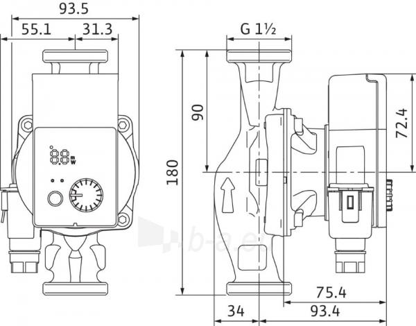 Cirkuliacinis siurblys Wilo Yonos Pico, 25/1-4, 180 mm Paveikslėlis 2 iš 4 310820163100