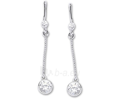 Čištín Sidabriniai earrings E1051 CZ Paveikslėlis 1 iš 2 30070003073