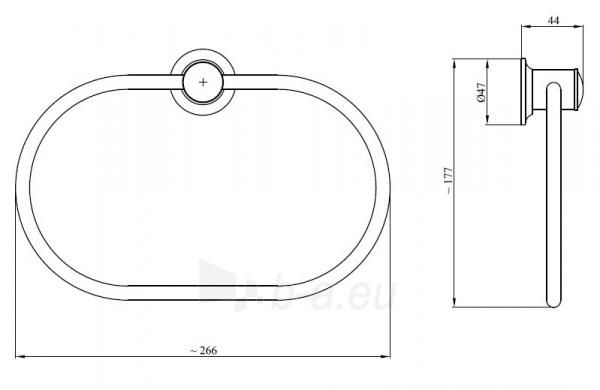 CLASSIC 021CC, ovalus laikiklis Paveikslėlis 2 iš 2 270717001303