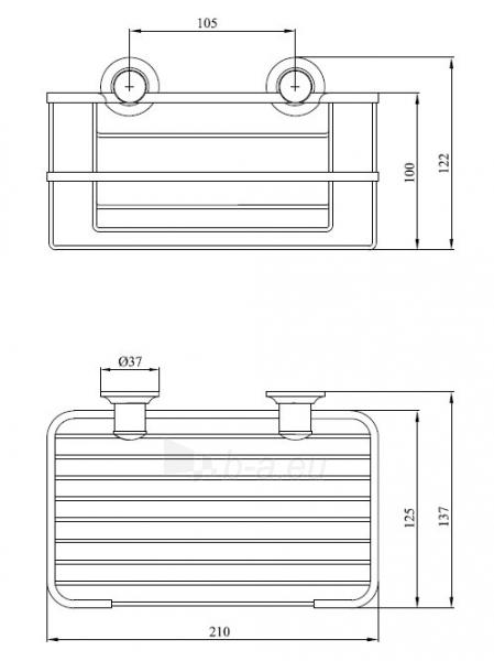 CLASSIC 039CC, aukštas tinklinis laikiklis, 21 cm Paveikslėlis 2 iš 2 270717001248