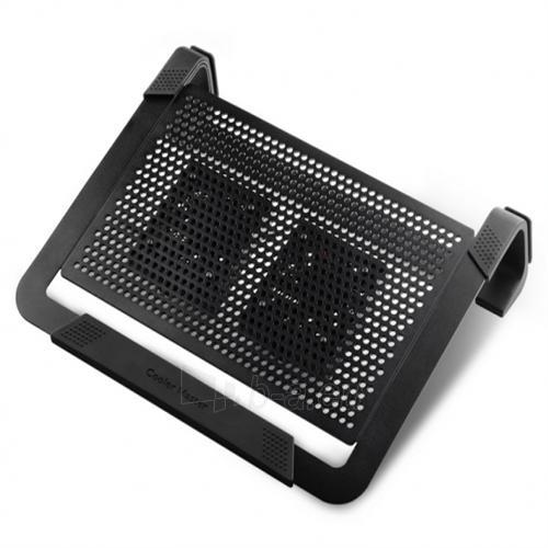 Cooler master notebook cooler ''Notepal U2 PLUS'' for up to 17'' nb, 2x80 mm fan Paveikslėlis 1 iš 1 250256400481