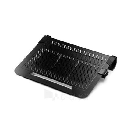 Cooler master notebook cooler ''Notepal U3 PLUS'' for up to 19'' nb, 3x80 mm fan, black Paveikslėlis 1 iš 3 250256400758