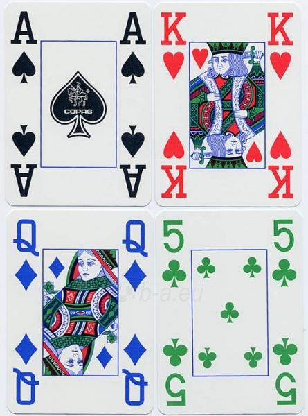 Copag 4 Colour pokerio kortos (Mėlynos) Paveikslėlis 3 iš 8 251010000256
