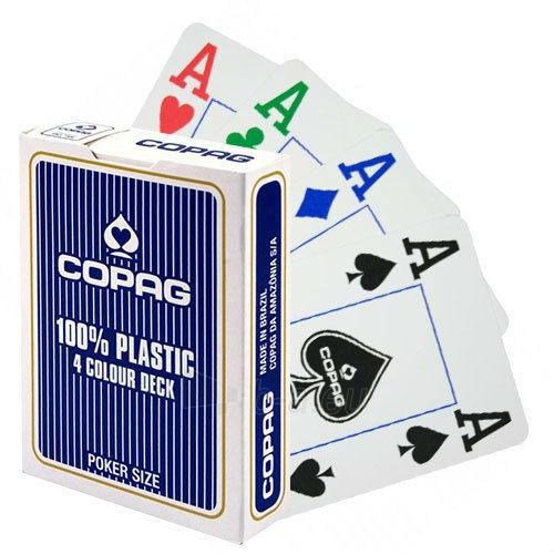 Copag 4 Colour pokerio kortos (Mėlynos) Paveikslėlis 6 iš 8 251010000256