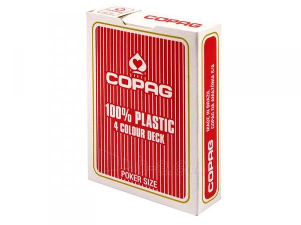 Copag 4 Colour pokerio kortos (Raudonos) Paveikslėlis 1 iš 8 251010000175