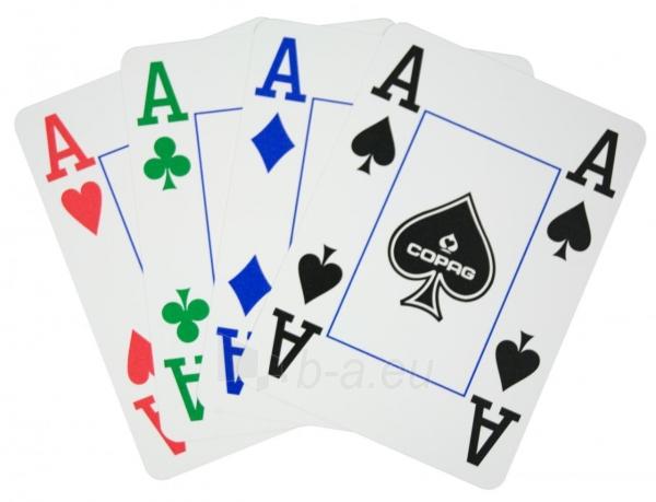 Copag 4 Colour pokerio kortos (Raudonos) Paveikslėlis 2 iš 8 251010000175