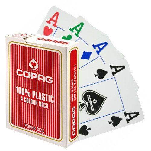Copag 4 Colour pokerio kortos (Raudonos) Paveikslėlis 5 iš 8 251010000175