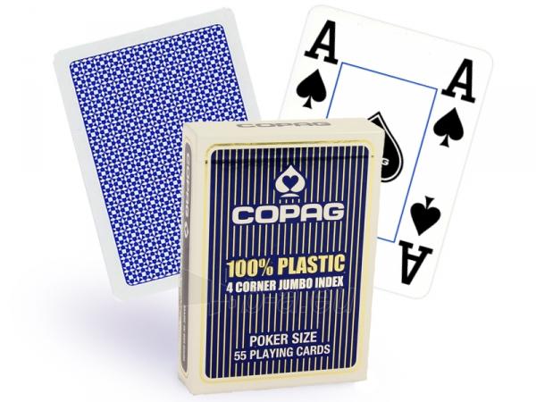 Copag 4 Corner pokerio kortos (Mėlynos) Paveikslėlis 1 iš 3 251010000176