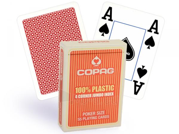 Copag 4 Corner pokerio kortos (Raudonos) Paveikslėlis 1 iš 4 251010000177