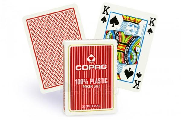 Copag Regular Index pokerio kortos (Raudonos) Paveikslėlis 2 iš 3 251010000260
