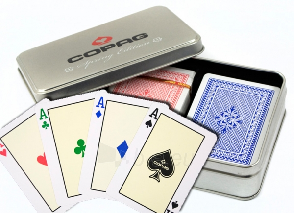 Copag Spring Edition dvi kortų kaladės specialioje dėžutėje Paveikslėlis 1 iš 3 251010000188