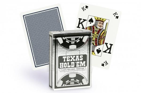 Copag Texas Holdem Peek Index pokerio kortos (Juodos) Paveikslėlis 3 iš 4 251010000190