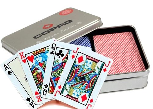 Copag Winter Edition dvi kortų kaladės specialioje dėžutėje Paveikslėlis 3 iš 3 251010000194
