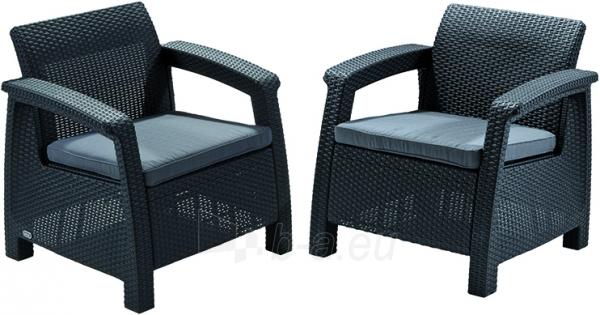 Corfu duo krēslu komplekts Paveikslėlis 1 iš 3 250402200086