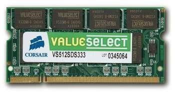 CORSAIR DDR2 KIT 2X1GB SODIMM 667MHZ Paveikslėlis 1 iš 1 250255110846