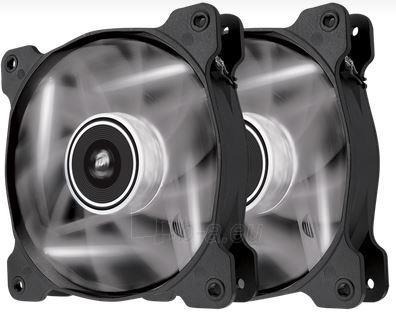 Corsair PC case fan AF120 Quiet Edition LED White,120mm, 3pin, Twin Pack Paveikslėlis 1 iš 2 2502552400129
